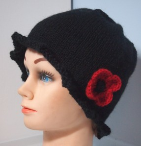 Remembrance Day hat, unfelted version