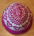 valentines hat, top view