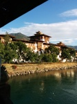 Dzong from entry bridge