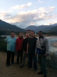 The gang with dzong in background