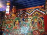 Side wall inside temple