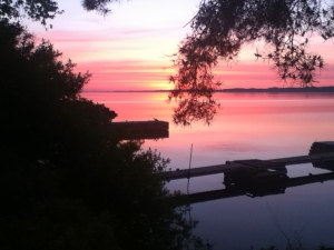 Maitland at sunrise...from lower deck