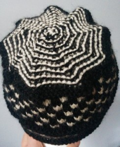 Top view of Two-Stitch Check/Four-Stitch Check Hat