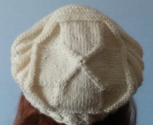 Quaker ridging slouch hat-back view