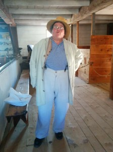 In drag for a day in the Grist mill