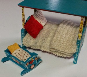 Dolls bed and cradle