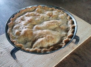 My first rhubarb pie