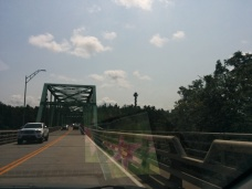 1000 islands bridge...into the states